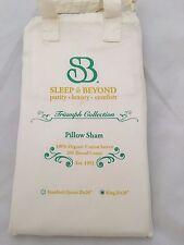 King Pillow Shams Set of 2 Natural White Cotton Sleep & Beyond sham pillow cover