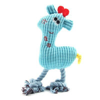 1X(Pet Dog Puppy Chicken Chew Toy Squeaker Squeaky Soft Plush Play Sound T F9O8