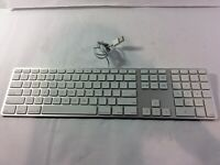 Genuine Apple A1243 Wired Slim Aluminum Keyboard (TESTED) - DG