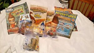 The Adventures Jimmy Neutron Boy Genius Burger King Lot of 4 Toys 2002