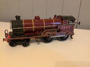 Vintage O Gauge Clockwork Locomotive Hornby Bing  4-4-0 Locomotive #1930