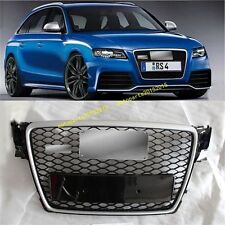 RS4 Front Sline Euro Grille Silver / Black For Audi A4 S4 B8 8K Avant 2009-2012