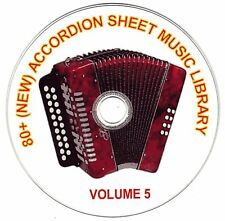 80+ SONGS! - HUGE VINTAGE ACCORDION SHEET MUSIC COLLECTION! - CD#5 of 10
