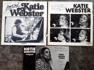 3x Katie Webster signiert Vinyl Platte Signatur Jazz 200% Joy many faces Live
