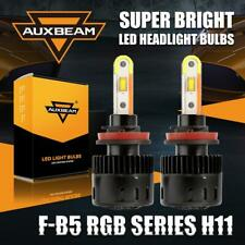AUXBEAM H8/H9/H11 56W LED Headlight DRL Bulbs Kit+RGB Bluetooth APP Control 2in1