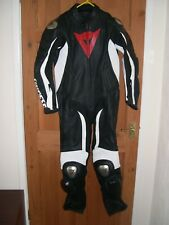 Dainese one piece racing leathers black white red