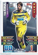 2015 / 2016 EPL Match Attax Base Card (182) Tim KRUL Newcastle