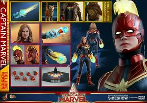 HOT TOYS MARVEL CAPTAIN MARVEL DELUXE VERSION 1/6 Action Figure