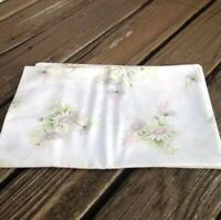 Vintage Springmaid Daisy Floral Pillowcase Pink Green 60s 70s Standard Bedding