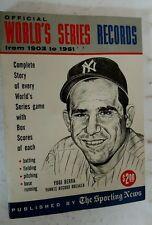 1962 Sporting News Official World Series Records 1903-61 YOGI BERRA Cover