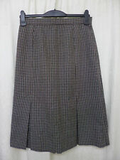 Wool Checked A-line Unbranded Skirts for Women