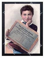 Historic Lily rubber dress shields, circa 1900 Advertising Postcard