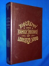 Biography & Family Record of Lorenzo Snow Leather LDS Mormon Employee Gift +Card