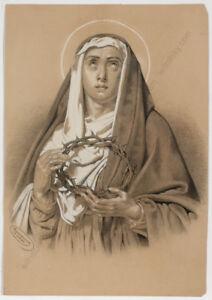 """Marianne von Eschenburg (1856-1937) """"Holy Mary"""", drawing, 1872"""