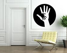 Yin Yang Hands in Black Circle Shadows Decor Wall Mural Vinyl Art Sticker M473