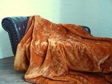 Kuscheldecke Tagesdecke Wohndecke Decke im Glanz-Design bronze 160x200cm