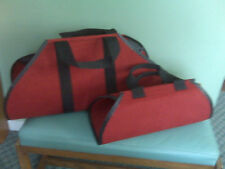 The BEST wood tote bag in Red twin bags