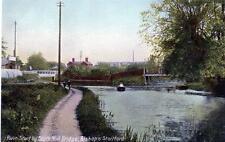 River Stort Bishops Stortford unused old postcard B&D Kromo Good condition