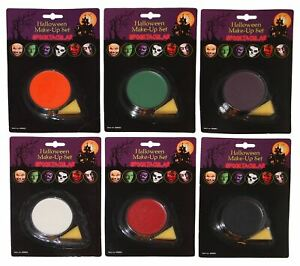 Scary Face Makeup Base New Applicator Sponge Horror Kit With up Make Accessories