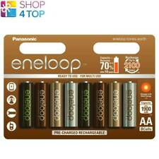 8 PANASONIC ENELOOP TONES EARTH RECHARGEABLE AA HR6 BATTERIEN 1.2V 1900mAh NEU