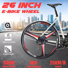 26'' 36V 300W Rear Wheel Conversion Kit Electric Bicycle Motor E-Bike Cycling