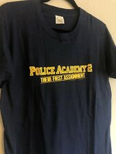 New listing 1985 Vintage Police Academy 2 Movie Promo T-Shirt, Screen Stars Blue Large