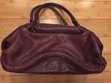 Botkier Wine/Red Pebble Leather Satchel Shoulder Bag Purse