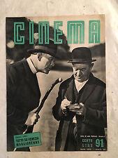 RIVISTA CINEMA 91 8/1952 COPERTINA FITZGERALD VENEZIA 1952 CASTELLO LIZZANI