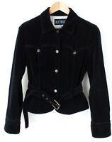Armani Jeans da Donna con Colletto con Cintura Cappotto Giacca Taglia 44 MZ557