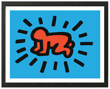 Keith Haring RADIANT BABY Framed 16x20 Giclee Pop Art Print **SALE
