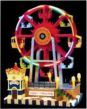 Red Ferris Wheel 15 Multi Coloured LED's - 30cm tall - Xmas Scene Decoration