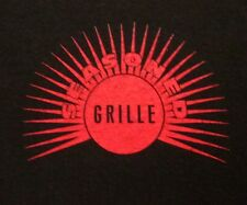 SEASONED GRILLE lrg T shirt Northfield Village chicken wings tee Ohio red sun