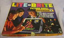 VINTAGE LITE-BRITE PICTURE REFILL ASORTMENT + EXTRAS - 1968 HASBRO