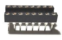 10PCS IC Sockets DIP-16 Machined Round Contact Pins Holes 2.54mm DIP16 DIP 16