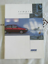 1991 FIAT TEMPRA SALOON AND STATION WAGON RANGE BROCHURE