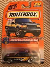 Matchbox Crown Victoria Black Police Car to the Rescue 28 Series 4 Mattel Wheels