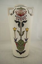 Antique Japanese signed Royal Nishiki Nippon hand painted Arts & Crafts vase