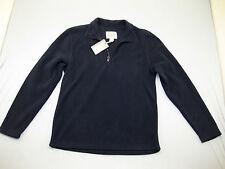 Base Jacket Blue Fleece Plush Coat St. John's Quarter Zip Soft Coat Small S NWT