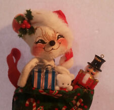 1999 ANNALEE Doll Stocking Mouse Teddy Bear Toy Soldier Christmas Present