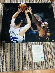 Ben Simmons Matchup Vs. Lebron James Uda Upper Deck Signed Autograph Photo 24x20