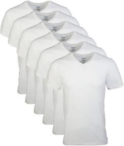 Gildan Mens V-Neck T-Shirts Multipack