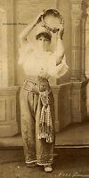 Türkische Tänzerin, Original-Albumin-Photo von ca. 1880