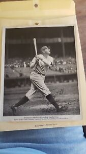 Original 1934 Quaker Oats Fan Club Premium Babe Ruth Yankees HOF Photo To My Pal