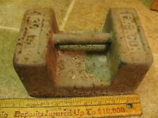 #2 Vintage R. S. Co 30 lb Scale Calibration Test Weight Dumbell