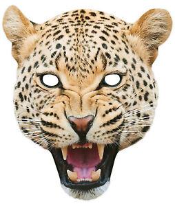 Leopard Tiere 2D Einzel Karten Party Maske - Welt Buch Tag Wildtiere Safari