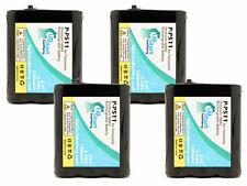 4x Battery for Panasonic KX-FPG376, KX-FPG381, HHR-P402, KX-TG5100M, KX-TG2217
