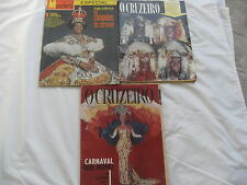 3 O Cruzeiro MANCHETE vtg BRAZIL SPANISH Magazine CARNAVAL carnival 51 yr '63/64