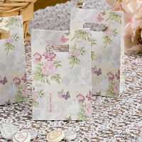 FLORAL FAVOUR BAGS x10 -Shabby Chic Wedding Favours -Roses - FULL RANGE IN SHOP!