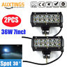 2X 7inch 36W Led Light Bar Work Driving Boat Fog Off Road Jeep Truck SUV 4WD New