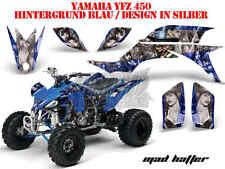 AMR Racing DECORO GRAPHIC KIT ATV Yamaha YFZ 450 04-14 yfz450r 09-16 Mad Hatter B